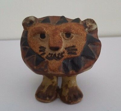 Tremar Pottery Cornwall Stylised Lion
