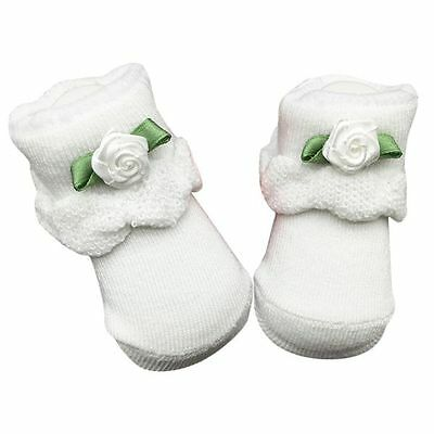 Newborn Baby Infant Boy Girl Soft Cotton Socks Flower Lace Ankle Socks