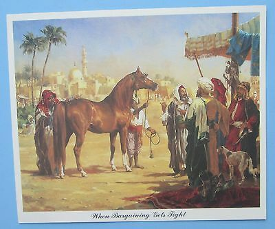 Arabian Horse being auctioned Painting Picture Print