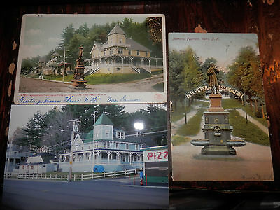 WEIRS NHI - CIVIL WAR ENCAMPMENT HQ - FOUNTAIN OLD Postcards plus MODERN PHOTOS