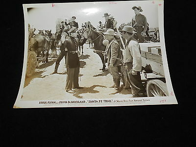 Santa Fe Trail  Errol Flynn Original Vintage Photo 1940
