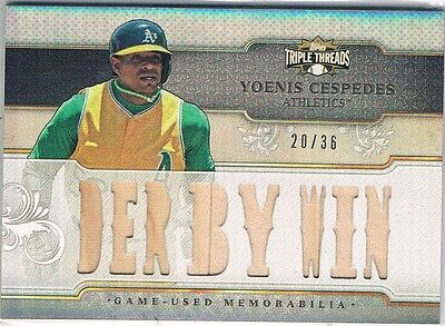 2014 Topps Triple Threads Relics #TTRYC1 Yoenis Cespedes