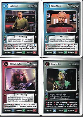 Star Trek Ccg Dominion Set Of 4 White Border Preview Cards
