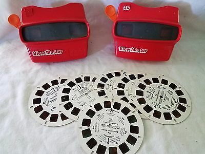 Vintage View Master Set of 2 With 6 Reels Working H105