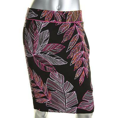 Nine West 5385 Womens Black Printed Knee-Length Pencil Skirt 2 BHFO