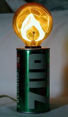 1960's 1970's 7Up 7 UP Wet & Wild The Uncola Flicker Light Soda Can Works Great!