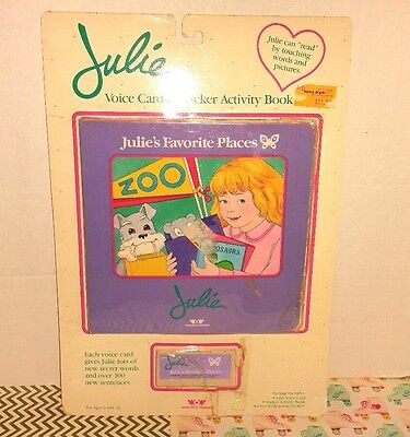 JULIE'S FAVORITE PLACES 1987 Worlds of Wonder Interactive Voice Card & Book NEW