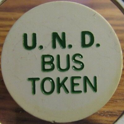 1982 U.N.D. Grand Forks, ND Transit Bus Token - University of North Dakota