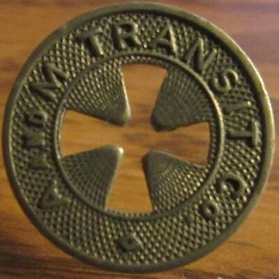 1934 A and M Transit Co. Alliance, OH Transit Trolley Token - Ohio