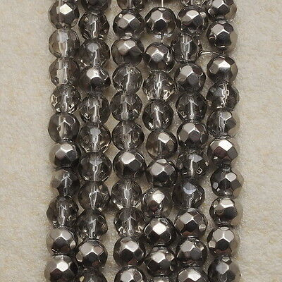 Fabulous! 4Mm Glass Faceted Round Beads Strand(1 Strand) 12 3/4""
