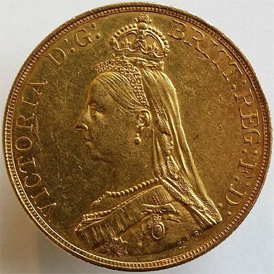 1887 Gold 5 Pounds Great Britain, Very Rare, Aunc++