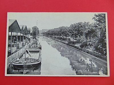 Postcard RIVER AND RIVERSIDE ROAD NORWICH