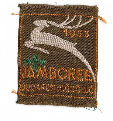IV. World Boy Scout Jamboree Official PARTICIPANT BADGE from 1933 Hungary