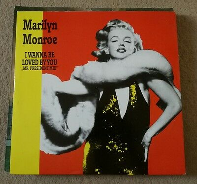 "Marilyn Monroe - I Wanna Be Loved By You 12"" Zyx 6080-12 Zyx Records 1989 Nm!"