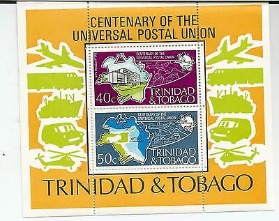 Trinidad Centenary Of Upu Mint Miniature Sheet  Ref 566
