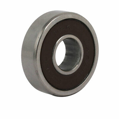24mmx9mmx7mm Double Rubber Sealed Deep Groove Ball Bearing Silver Tone