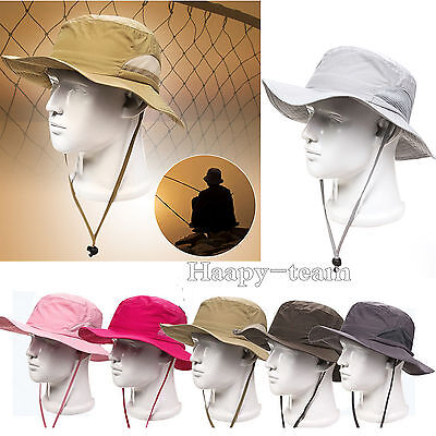Bucket Hat Boonie Hunting Outdoor Wide Brim Camo Sun Mens Caps Military Fishing