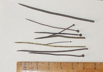 Medieval  And Tudor Brass Pins And Needles