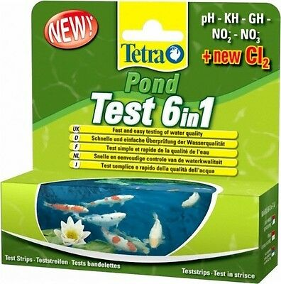 Tetra Pond 6 in 1 test kit pH Nitrate Nitrite GH KH CL