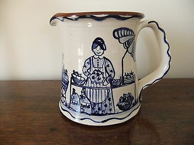 Vintage continental blue and white jug