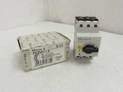 143369 New In Box, Moeller PKZM0-1.6 Motor Protection Unit 1.0-1.6A, 3P, 600V Ma