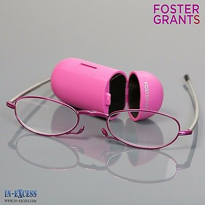 6a82b659bf Genuine Foster Grant Reading Sunglasses + 1.50 Compact Pink Folding Readers