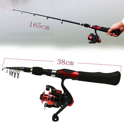 Fishing Rod Combos Spinning Pole with Reel Telescopic Travel Portable Fish Kits