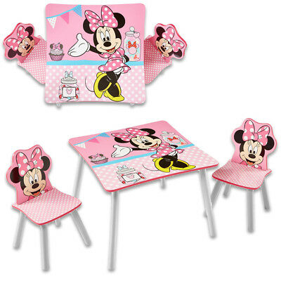 Kindersitzgruppe Sitzgruppe Kinder Möbel Kinderstühle Kindertisch Disney Minnie