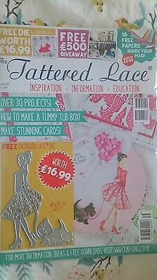 tattered lace magazine 35 with die