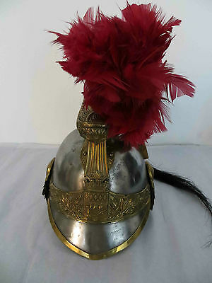 French Cuirassier Officer Paris Republican Guard Helmet:Original,Plume REDUCED