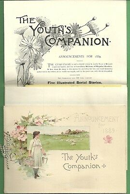 1889 Advertising Publication ANNOUNCEMENT THE YOUTH'S COMPANION