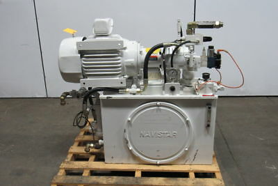 REXROTH US MOTORS 35 GALLON 7-1/2 HP Hydraulic Power Unit Pump With Extras!