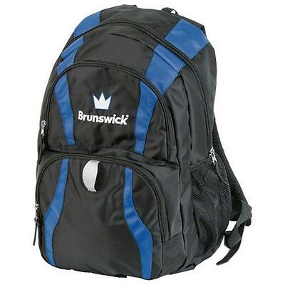 Brunswick Crown Bowling Ball Company Backpack Color Black/Blue
