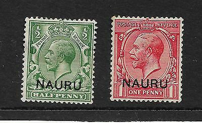NAURU KIN GEORGE V ½d GREEN 1d SCARLET UNUSED REF 829