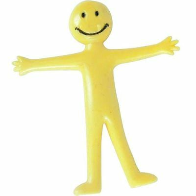 20 Mini Smiley Strechy Men Yellow Birthday Party Loot Bag Fillers Stocking