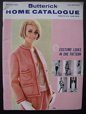 BUTTERICK HOME CATALOGUE Spring 1964 - Vintage women's & children's Fashions