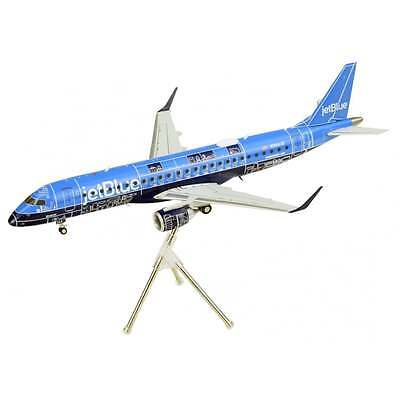 Gemini Jets G2JBU661 Jetblue ERJ-190 Blue Print Color N304JB Diecast 1/200 Model