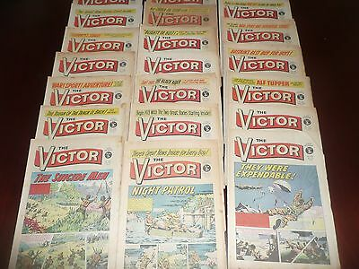 ( lot 3 ) collection of 20  VICTOR comics  1972/73
