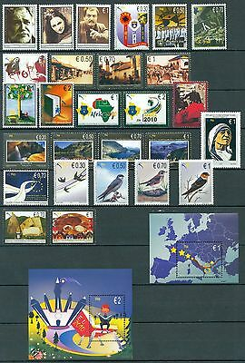 Kosovo 2010 Stamp Year Set With All Stamps And Souvenir Sheets Mnh Very Fine