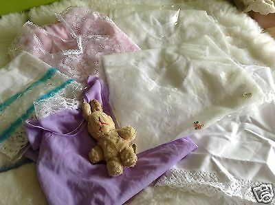 AUTHENTIC VINTAGE CLOTHING 1970s UNUSED BABY GIRLS PETTICOAT BUNDLE 3M TO 24M