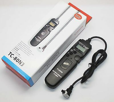TC-80N3 Timer Remote Switch Shutter Release Cord for Canon Camera 7D 6D 5D III