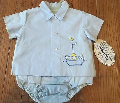 Vintage Nannette Baby clothes Outfit Shirt Top Pants Dead Stock sz 3 months