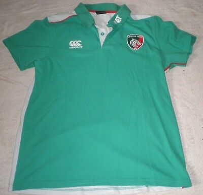 Leicester Tigers Rugby Super League Canterbury Shirt Size L Large Adult