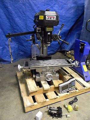 "Jet Mill Drill Combination Machine Variable Step Pulley 9-1/2"" x 32-1/4"" Table"