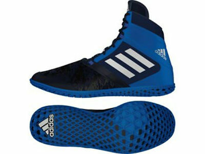 Adidas Wrestling Flying Impact Boots Shoes Navy Black - AQ3318