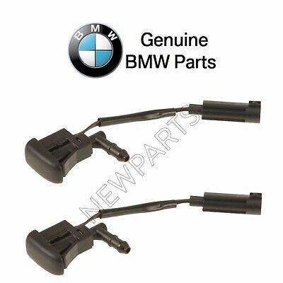 For BMW E38 7-Series 740i Pair Set of 2 Heated Windshield Washer Nozzles Genuine