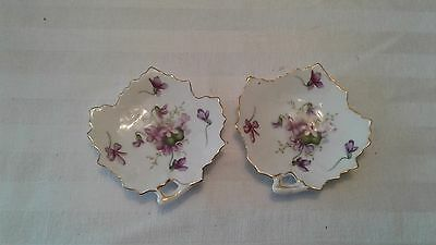 Vintage Occupied Japan Spring Violets Small dishes (2)