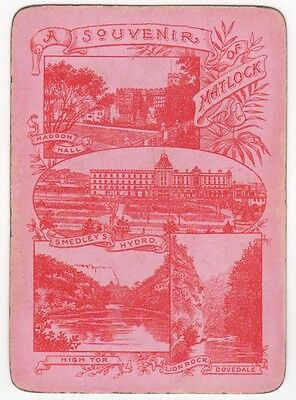 Playing Cards 1 Single Swap Card - Old Antique SCENIC Wide SOUVENIR of MATLOCK