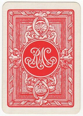 Playing Cards 1 Single Swap Card - Old Antique Wide RAC - ROYAL AUTOMOBILE CLUB