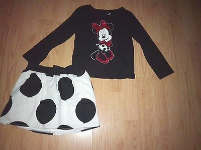 Disney Jumping Beans Minnie Mouse 2 Piece Little Girls Outfit Size 4T